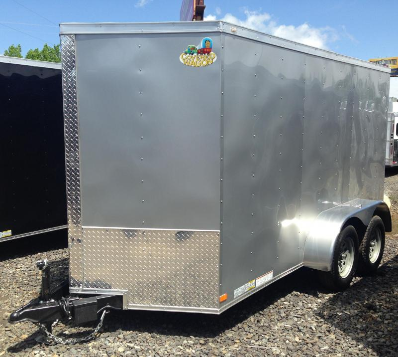 6x12 Enclosed Cargo Trailer Double Doors Silver