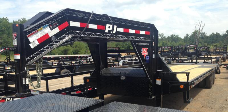 103x30 PJ Lo Pro Gooseneck Flatdeck with 10K Duals-Monster Ramps
