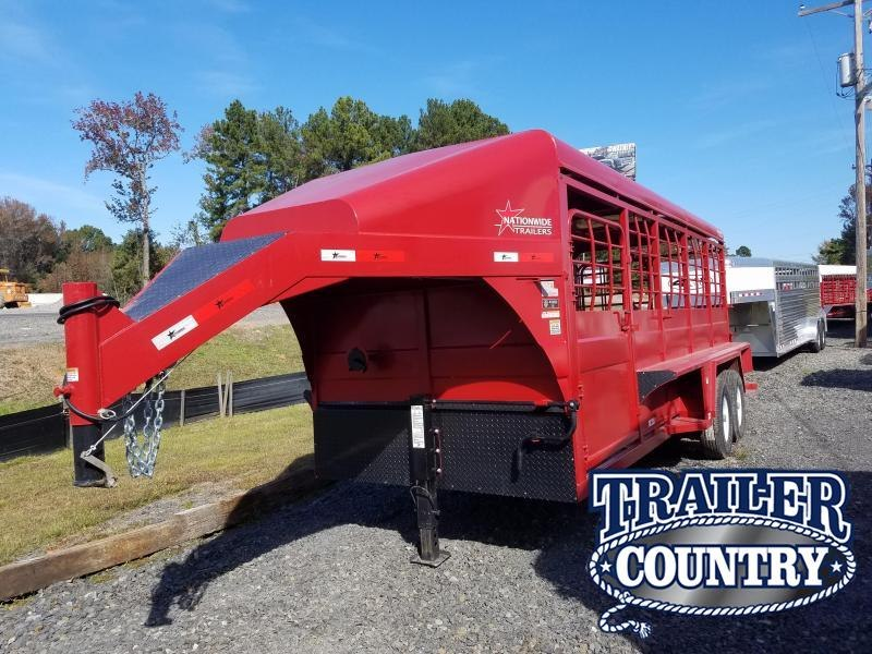 2019 Nationwide Trailer 20ft GN CATTLE TRAILER Livestock Trailer