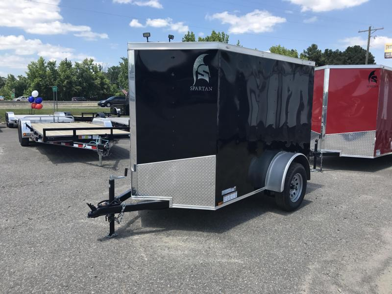 5x8 Enclosed Cargo Trailer-Ramp-Black