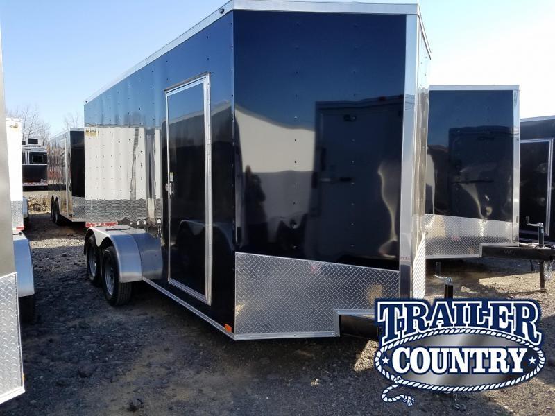 7x16 Enclosed Cargo Trailer-TA-3500lb Axles Ramp Door V-Nose
