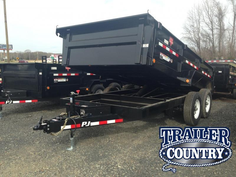 83x14 PJ Dump Trailer-Scissor Lift-Powder Coated