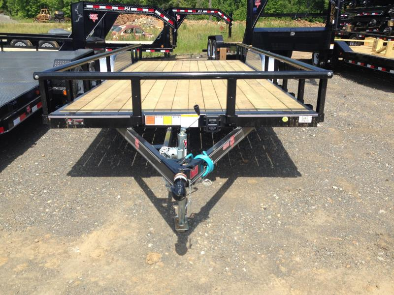 83x18 PJ Utility Trailer Dovetail and Rear Ramps