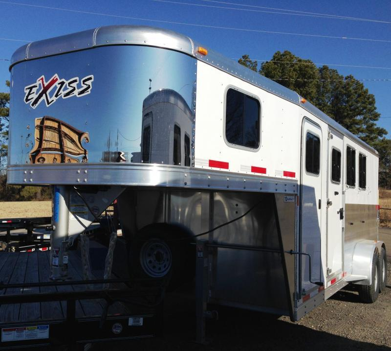 2014 Exiss Trailers 6300GN Horse Trailer-YEAR END CLEARANCE