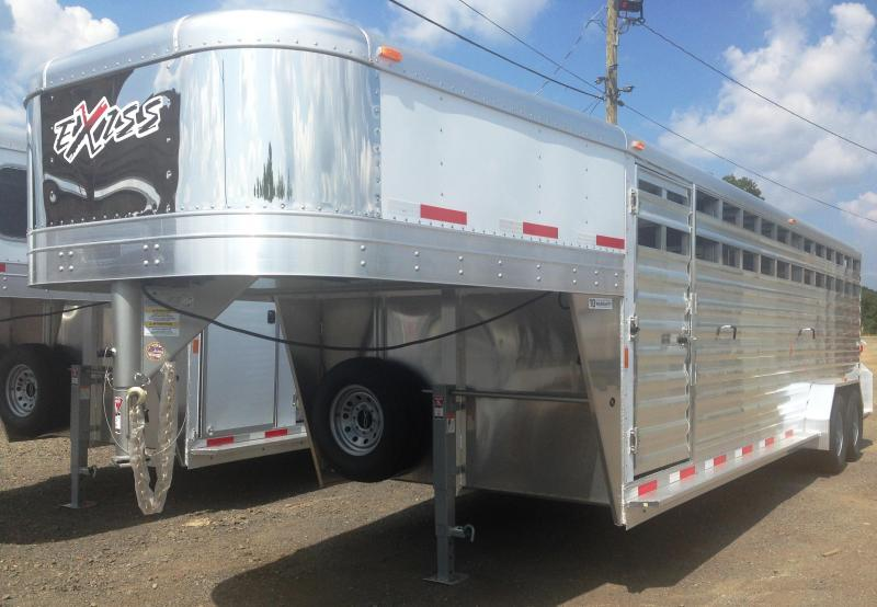 24' Exiss Gooseneck Stock Trailer-YEAR END CLEARANCE