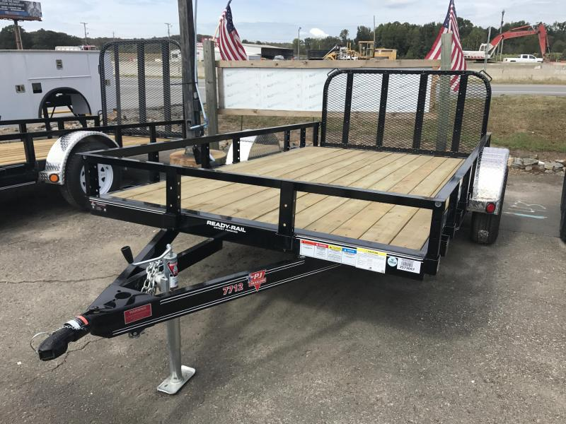 77x12 PJ Utility Trailer-Dovetail-Rear Gate