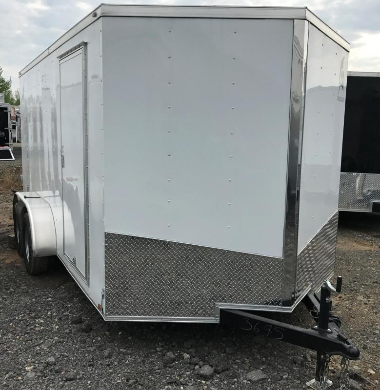 7x14 Enclosed Cargo Trailer-Double Doors