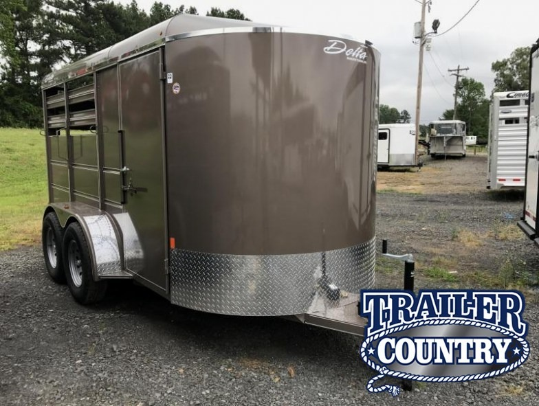 14' Delta Two Horse Slant Bumper Pull Trailer-Dressing Room