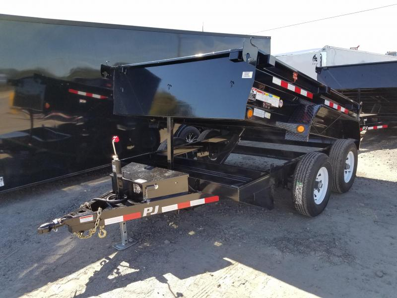 78x10 PJ Dump Trailer 5200 lb axles Split Gate No Ramps