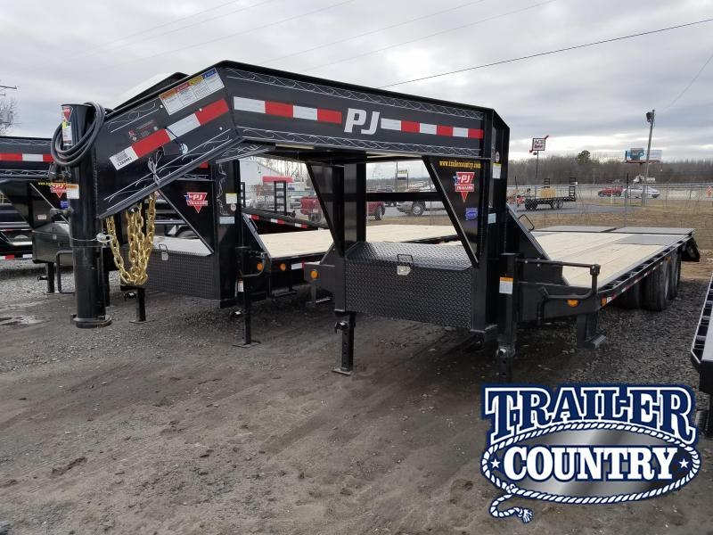 2018 PJ Trailers 102X25 GN LOW-PRO FLATDECK Flatbed Trailer