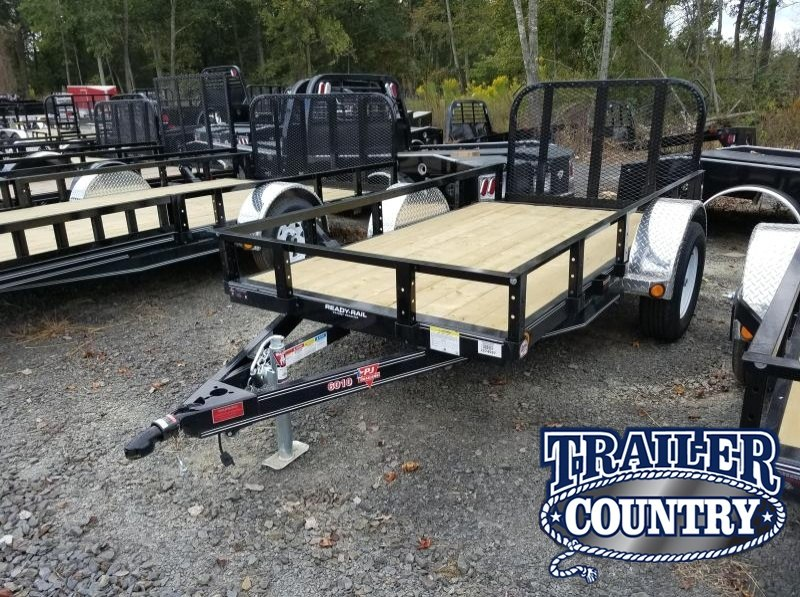 5x10 PJ Utility Trailer-Dovetail-Rear Gate