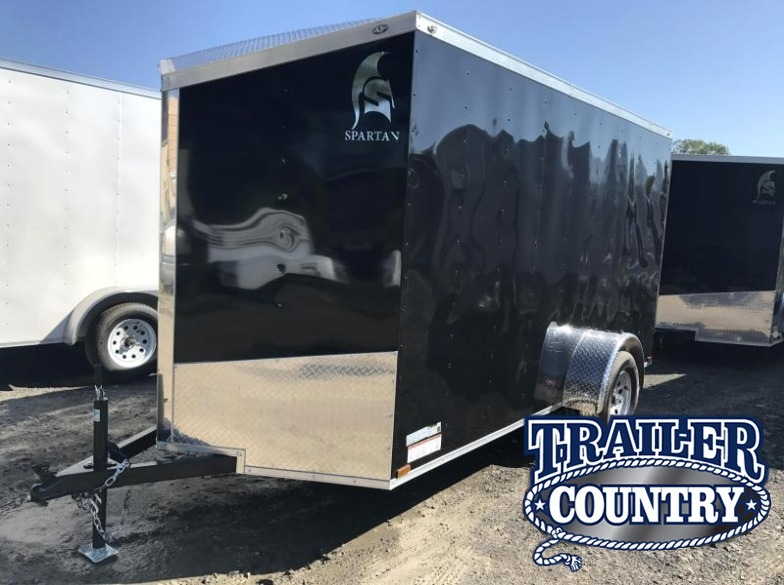 6x12 Enclosed Cargo Trailer-Ramp Door-Black