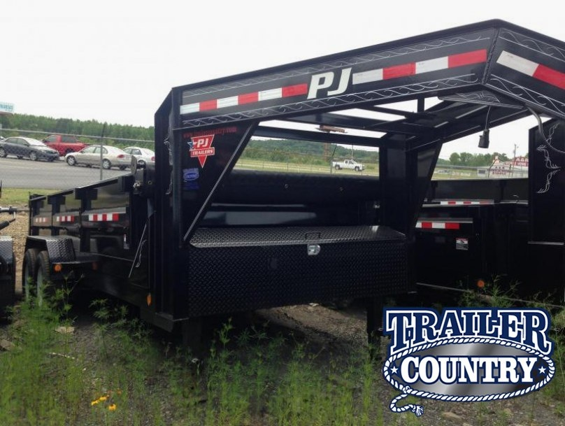 83x16 PJ Gooseneck XL Dump Trailer with Tarp
