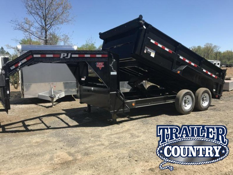 83x14 PJ Gooseneck Lo Pro High Side Dump with Tarp-CLEARANCE