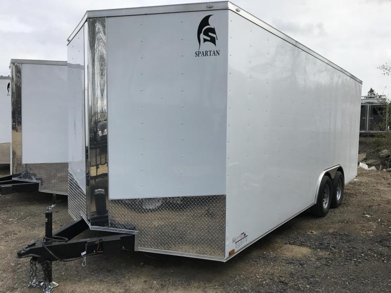 8.5x20 Enclosed Cargo Trailer-5200lb Axles-Ramp