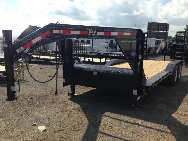 102x20 PJ Gooseneck Superwide Equipment Trailer-Fold Up Ramps-CLEARANCE