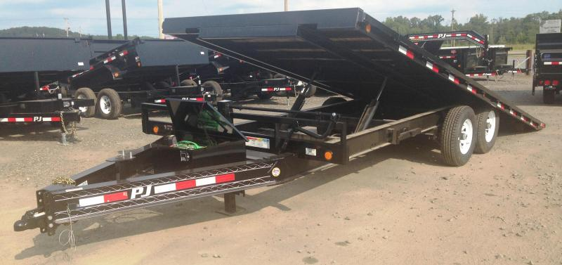 22' PJ Deckover Tilt Equipment Trailer-BLACKWOOD