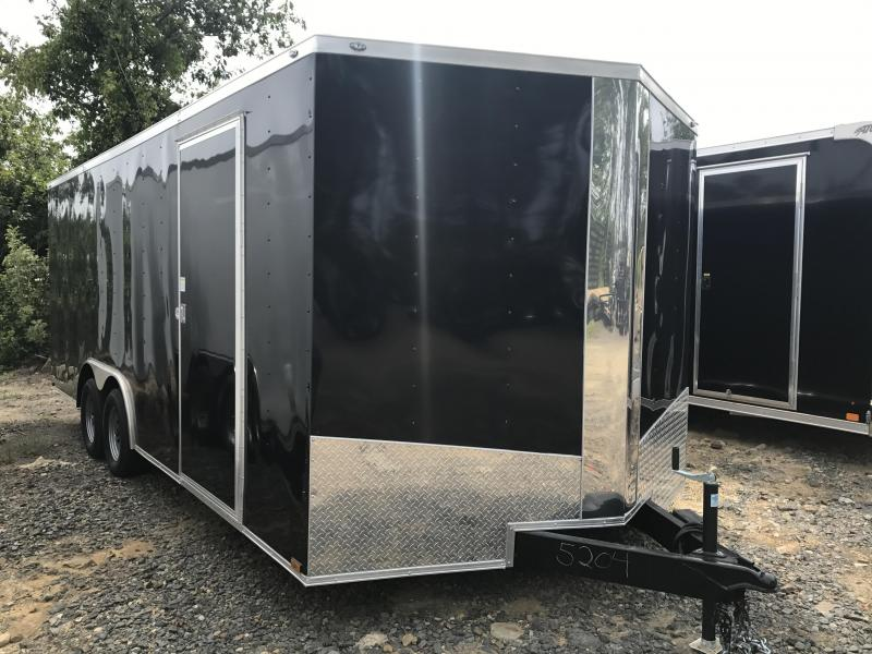 "8.5x20 Enclosed Cargo Trailer-6'6"" Height-Black"