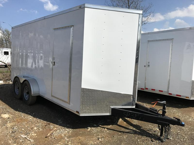7x16 HD Enclosed Cargo Trailer-7000lb Axles-CLEARANCE