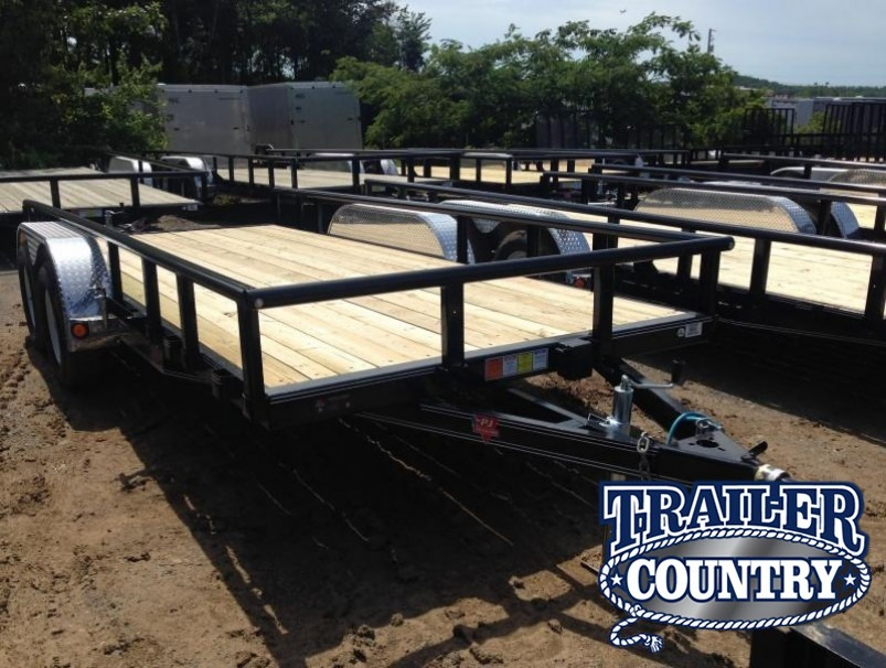 77x16 PJ Utility Trailer Dovetail-Rear Ramps