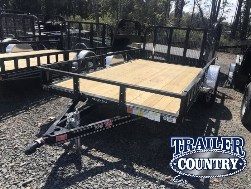 77x12 PJ Utility Trailer Dovetail-Rear Gate-Side Ramps