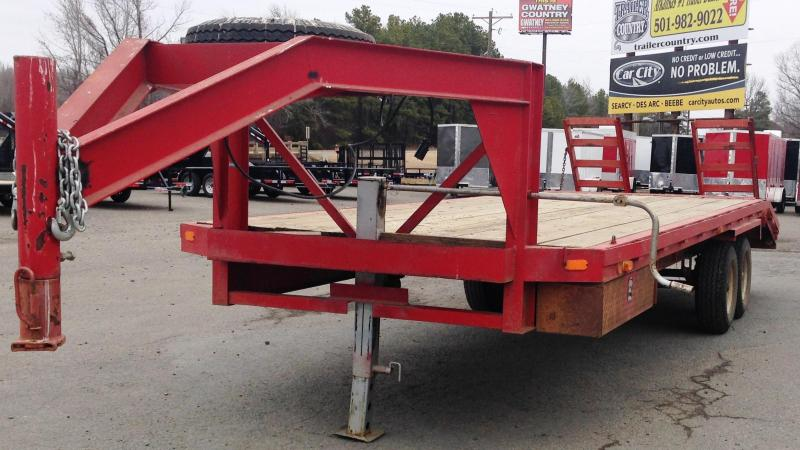USED 102x24 Gooseneck Equipment Trailer