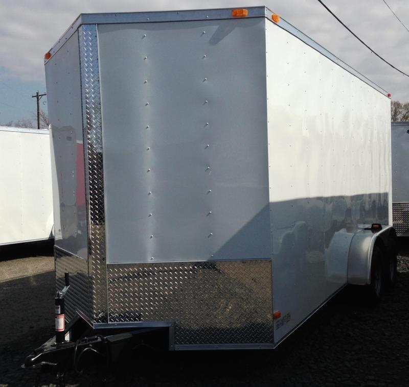 7x16 Enclosed Cargo Trailer-Ramp Door-CLEARANCE