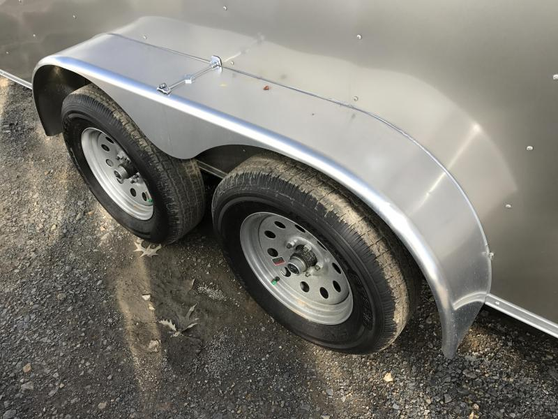 7x16 Enclosed Cargo Trailer-Pewter-CLEARANCE