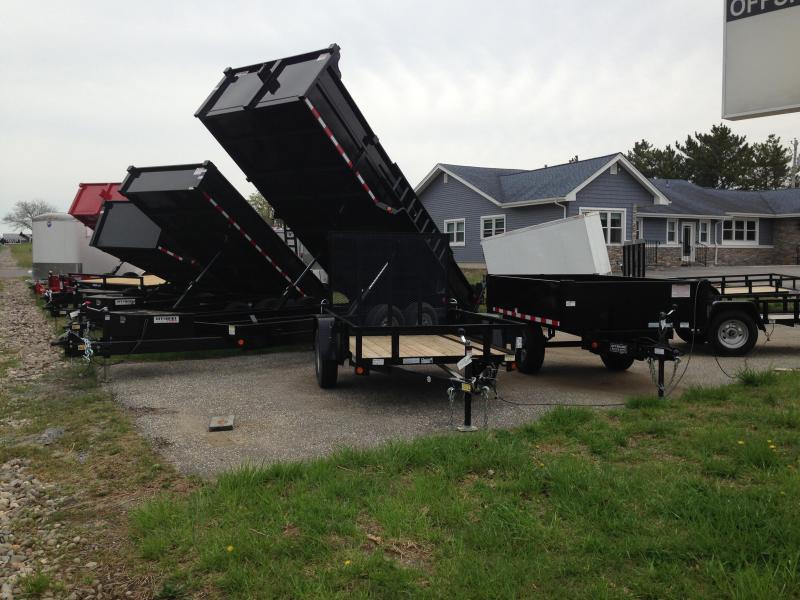 2018 Quality Steel and Aluminum 83x14 LP 14K Dump Trailer