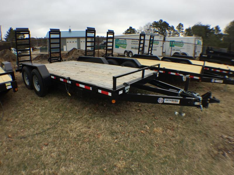 2018 Quality Steel and Aluminum 18 10k gvwr Equipment Trailer