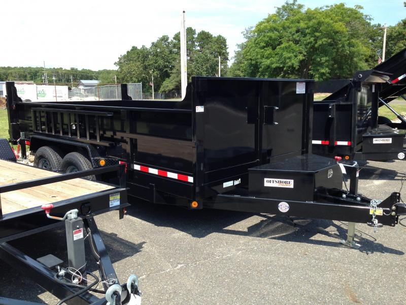 2018 Quality Steel and Aluminum 7X16 LOW PROFILE Dump Trailer