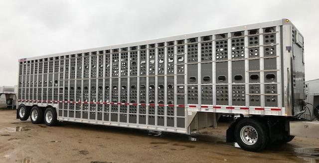 2020 53' Triple Axle EBY Bull Ride Livestock- Gun Metal Gray