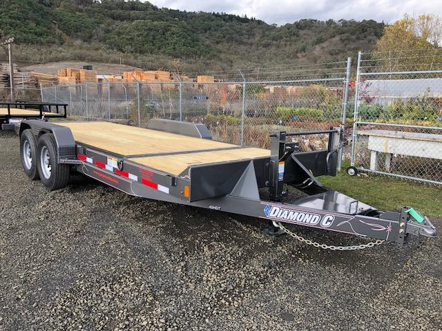 "2018 Diamond C 82""x20 Split Deck Tilt Flatbed Trailer J1194930"