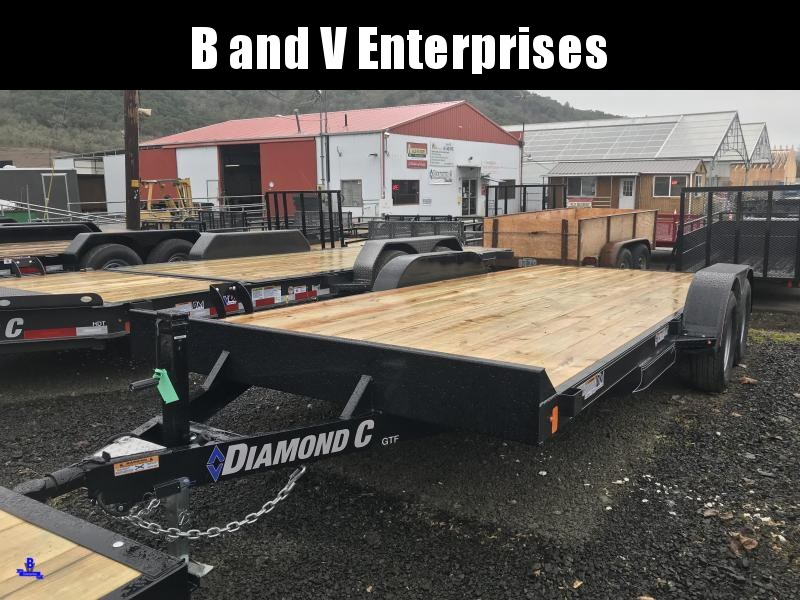 2019 Diamond C Trailers GTF252 18X82 Flatbed Car / Racing Trailer K1310729