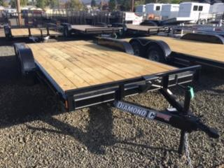 "2018 Diamond C 83""x16 Car Hauler Flatbed Trailer J1193854"