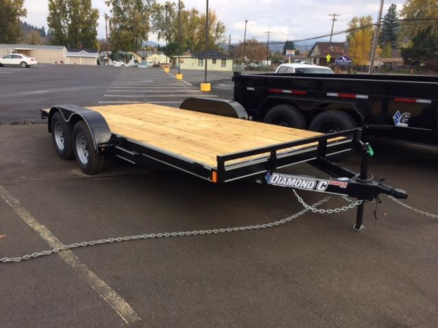 "2018 Diamond C 83""x16 Car Hauler Flatbed Trailer J1194347"