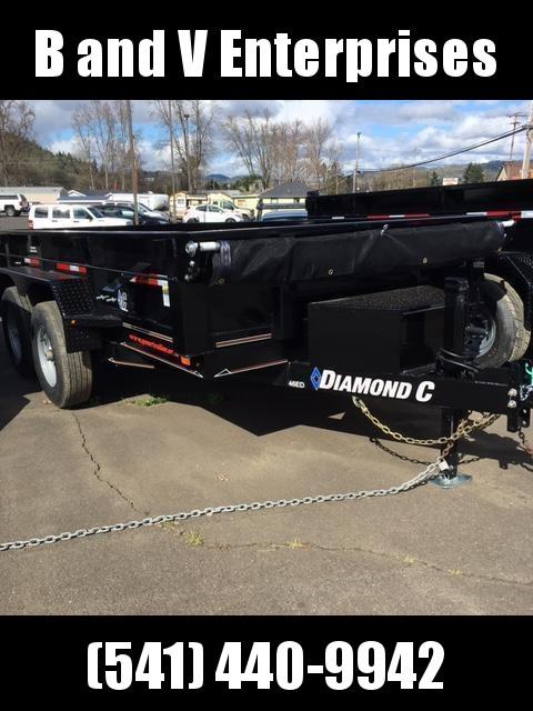 2018 Diamond C Trailers 46ED 77x12 3 Way gate Dump Trailer