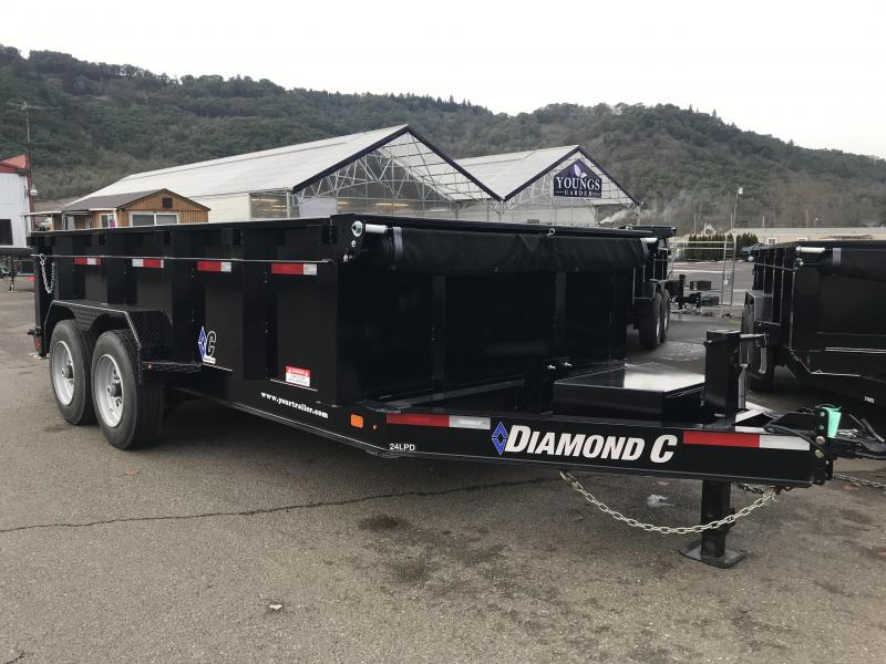 SALE 2018 DIAMOND C 24LPD 82X14 HD LOW PRO DUMP TRAILER