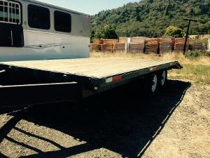 USED 2015 MSME 20 Deck Over Flatbed Trailer FM798126