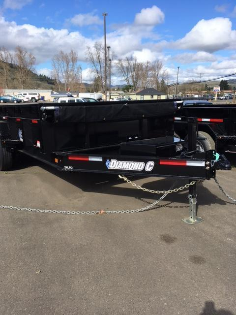 2018 Diamond C Trailers 24LPD 82X14 Tilt Over Dump Trailer