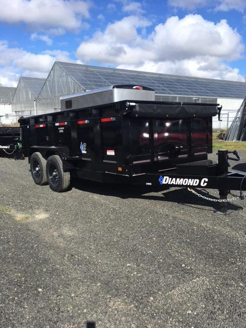 2018 Diamond C Trailers 41ED 77X10 Spread gate GRAY Dump Trailer