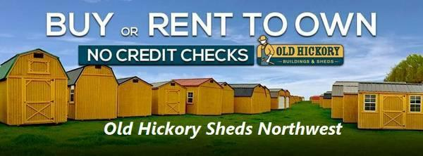 USED 2017 Old Hickory Shed 10x20 Side Lofted Barn T2419