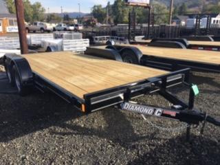 "2018 Diamond C 83""x16 Car Hauler Flatbed Trailer J1193856"