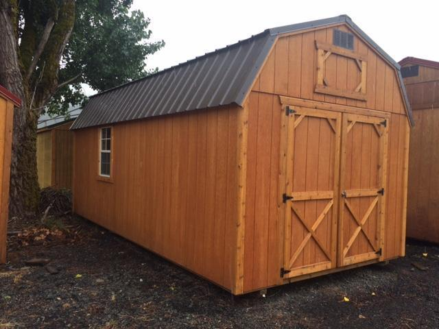 Old hickory sheds flatbed cargo dump and horse trailer for Lofted barn shed