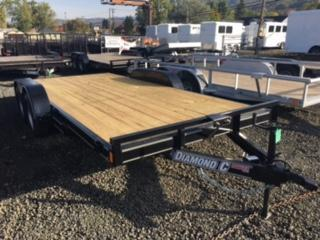 "2018 Diamond C 83""x16 Car Hauler Flatbed Trailer J1193851"