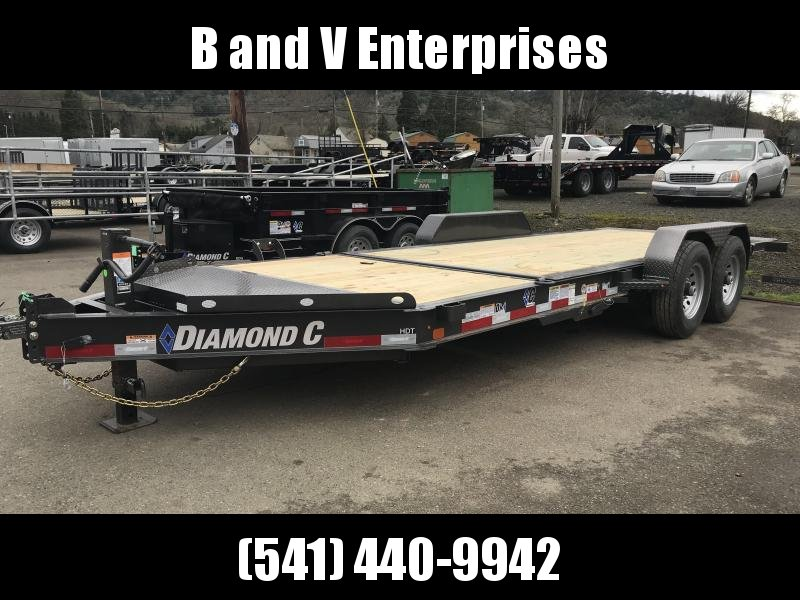 2019 DIAMOND C HDT207 82X20 SPLIT TILT EQUIPMENT TRAILER K1210735