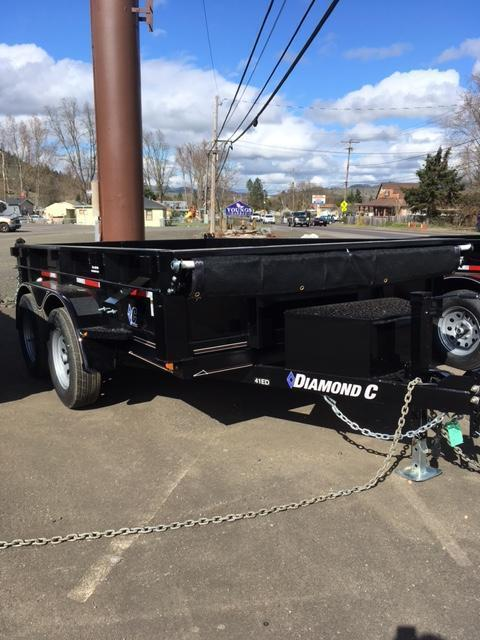 2018 Diamond C Trailers 41ED 77X10 Spread gate Dump Trailer