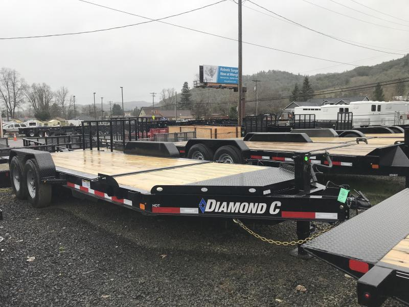 2019 DIAMOND C HDT207 82X20 SPLIT TILT EQUIPMENT TRAILER K1212175