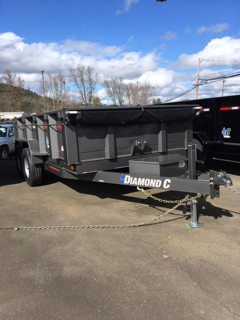 2018 Diamond C Trailers 21WDL 14X82 HD Gray Metallic Dump Trailer
