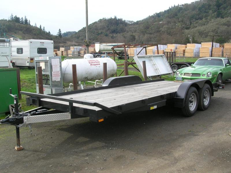2013 Forest River Inc. 7x18 Flatbed Trailer DT506121